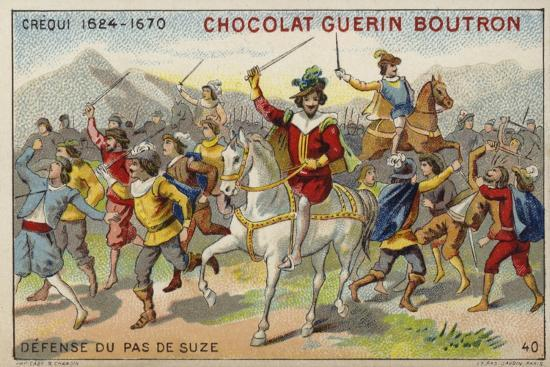 Crequi, French Soldier, Defending the Pas De Suze--Giclee Print