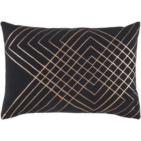Crescendo Poly Fill Pillow - Jet--Home Accessories