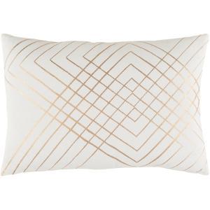 Crescendo Poly Fill Pillow - Pearl