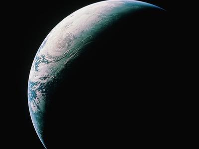 Crescent Earth from Space--Photographic Print