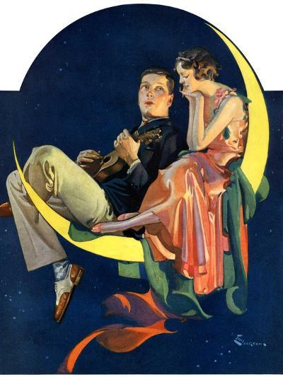 """""""Crescent Moon Couple,""""June 14, 1930-Elbert Mcgran Jackson-Giclee Print"""