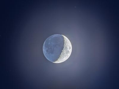 Crescent Moon with Earthshine-Stocktrek Images-Photographic Print