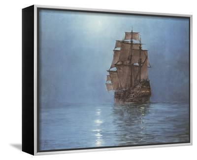 Crescent Moon-Montague Dawson-Framed Canvas Print