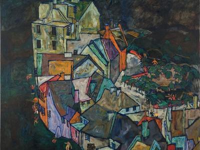 Crescent Of Houses III Giclee Print By Egon Schiele | Art.com