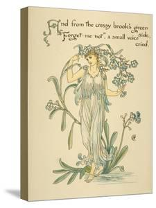 Cressy Brook's Green Side/Forget Me Not Written and Drawn by Walter Crane