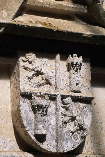 Crest, Decorative Detail from Chateau De L'Herm, Rouffignac-De-Saint-Cernin-Reilhac--Giclee Print