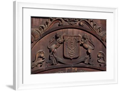Crest Detail, Seremetev Palace, St Petersburg's Historic Centre--Framed Photographic Print