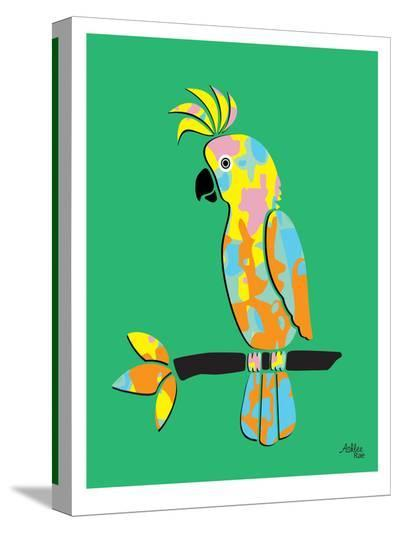 Crested Cockatoo-Ashlee Rae-Stretched Canvas Print