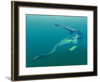 Cretaceous Marine Predators, Artwork-Walter Myers-Framed Photographic Print