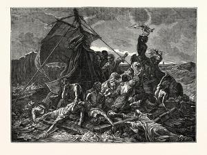 Crew of the Medusa on the Raft