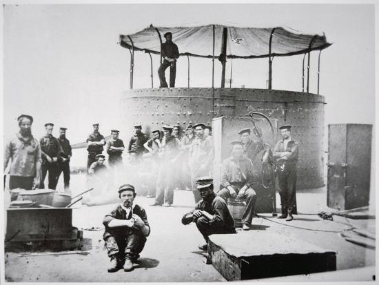 Crew of the Uss 'Monitor' Cooking on Deck on the James River, Virginia, 9th July 1862-American Photographer-Giclee Print