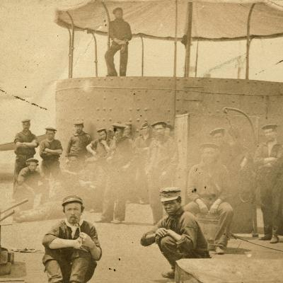 Crew on the Deck of the USS Monitor, 1862-James F^ Gibson-Photographic Print