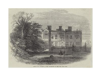 Crewe Hall, Cheshire, Lately Destroyed by Fire--Giclee Print