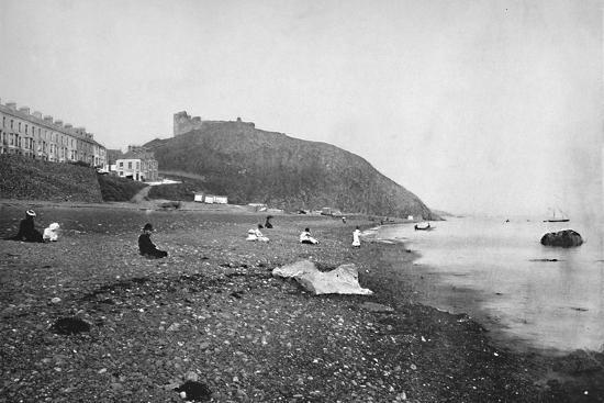 'Criccieth - View of the Beach and the Castle', 1895-Unknown-Photographic Print