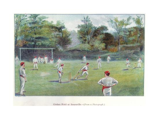 Cricket Field at Bournville, 1892--Giclee Print