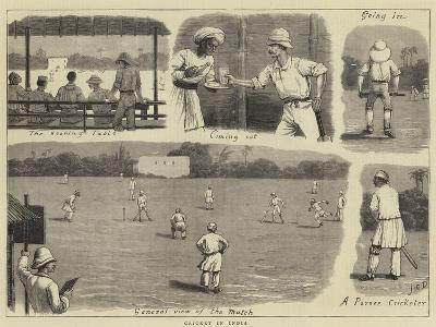 Cricket in India-John Charles Dollman-Giclee Print