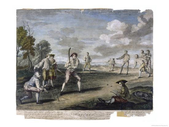 Cricket Match at the Artillery Ground London- Benoist-Giclee Print
