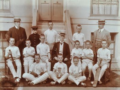 Cricket Team at the Boys Home Industrial School, London, 1900--Photographic Print
