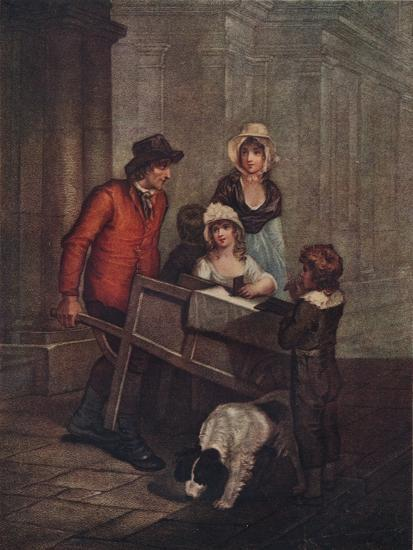 Cries of London Plate 12: Hot Spice Gingerbread, smoaking hot!, 1796, (1911)-Unknown-Giclee Print