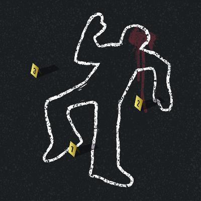 Crime Scene Illustration-pashabo-Art Print