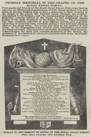 Crimean Memorial in the Chapel of the Royal Naval School--Giclee Print