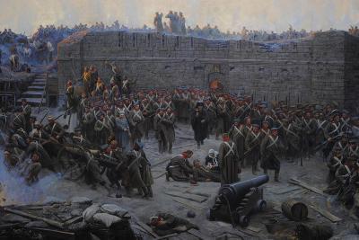 Crimean War (1853-1856). Siege of Sevastopol, 1854-1855, by Franz Alekseyevich Roubaud (1856-1928)--Giclee Print