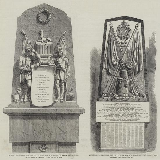 Crimean War Memorials--Giclee Print