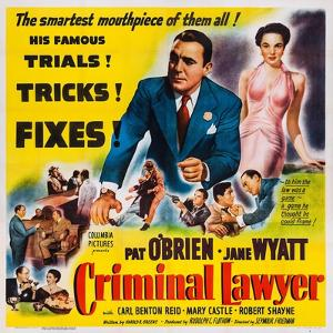 Criminal Lawyer, Pat O'Brien, Jane Wyatt, 1951