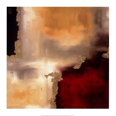 Crimson Accent I-Laurie Maitland-Art Print
