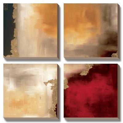 Crimson Accent I-Laurie Maitland-Canvas Art Set