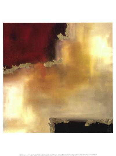 Crimson Accent II-Laurie Maitland-Art Print