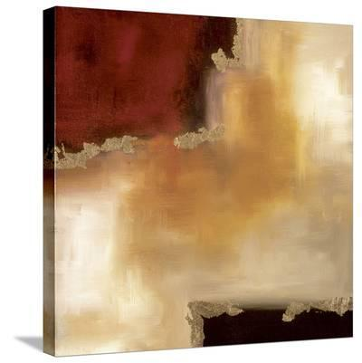 Crimson Accent II-Laurie Maitland-Stretched Canvas Print