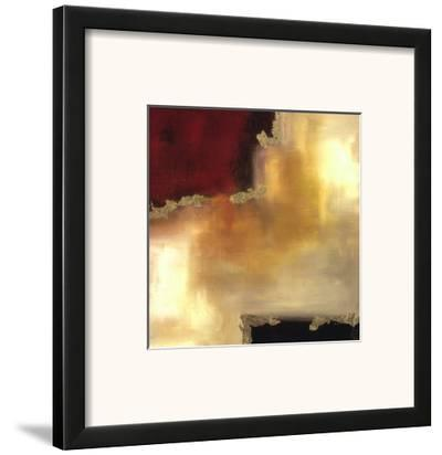 Crimson Accent II-Laurie Maitland-Framed Art Print