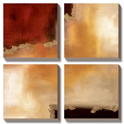 Crimson Accent II-Laurie Maitland-Canvas Art Set