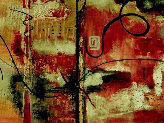 Crimson and Copper II-Ruth Palmer-Art Print