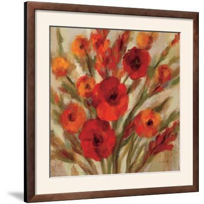 Crimson Blooms II Crop--Framed Photographic Print