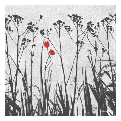Crimson Ink Plants-Alonza Saunders-Art Print