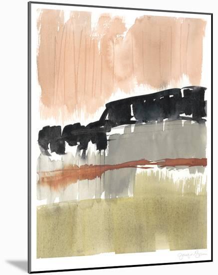 Crimson on the Horizon II-Jennifer Goldberger-Mounted Limited Edition