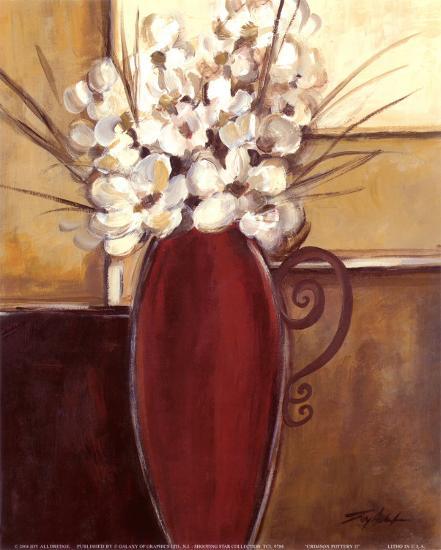 Crimson Pottery II-Joy Alldredge-Art Print