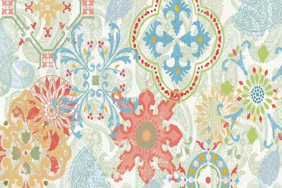 Crimson Stamps I Spring--Art Print