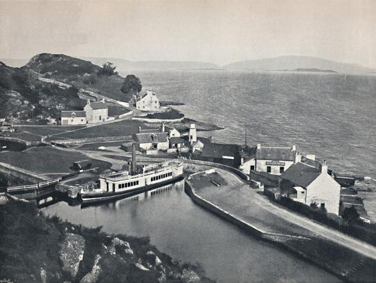 'Crinan - The Western Terminus of the Canal and the Sound of Jura', 1895-Unknown-Photographic Print