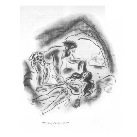 """Cripes, it's the wife!"" - New Yorker Cartoon-Leonard Dove-Premium Giclee Print"