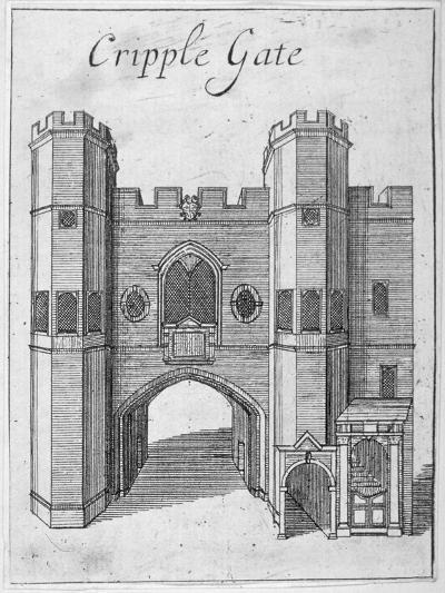 Cripplegate, City of London, 1750--Giclee Print