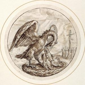 A Pelican in Her Piety, Early 17th Century by Crispin I De Passe