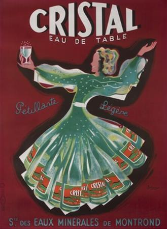 Cristal Table Water French Advertising Poster