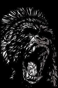 Angry Gorilla by Cristian Mielu