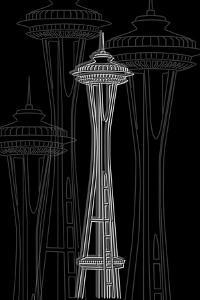 Seattle Night by Cristian Mielu