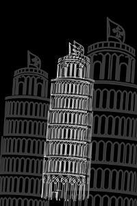 Tower of Pisa Night by Cristian Mielu