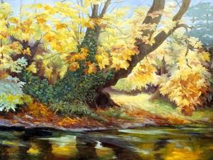 Autumn on the Darenth by Cristiana Angelini