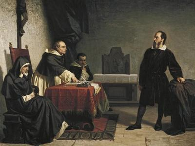 Galileo before the Roman Inquisition, 1857
